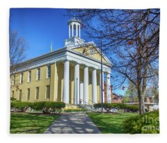 Newburgh Courthouse On Grand Street 1 Fleece Blanket
