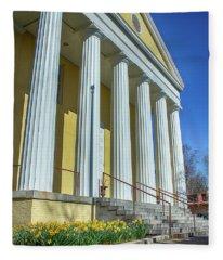 Newburgh Courthouse On Grand Street 2 Fleece Blanket