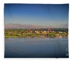 Newburgh, Ny From The Hudson River Fleece Blanket
