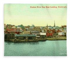 Newburgh Steamers Ferrys And River - 15 Fleece Blanket