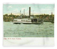Newburgh Steamers Ferrys And River - 24 Fleece Blanket