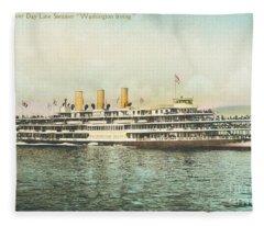 Newburgh Steamers Ferrys And River - 30 Fleece Blanket