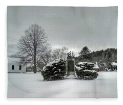 Newbury Lower Green Fleece Blanket