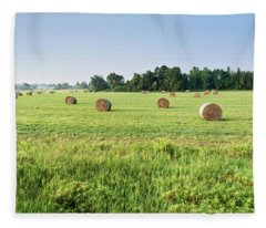 Newly Baled Hay Fleece Blanket