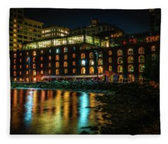Newly Gentrified Warehouse At Night Fleece Blanket