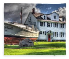 Newport Coast Guard Station Fleece Blanket