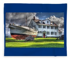 Newport Coast Guard Station Fleece Blanket