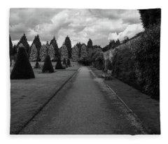 Newstead Abbey Country Garden Gravel Path Fleece Blanket