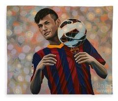 Neymar Fleece Blanket