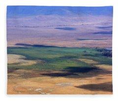 Ngorongoro Crater Tanzania Fleece Blanket
