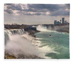 Niagra Waterfalls Fleece Blanket