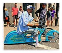 Nice Bike Fleece Blanket