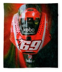 Nicky Hayden's Motogp Ducati Fleece Blanket