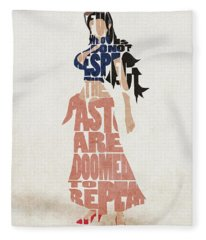 Nico Robin Typography Art Fleece Blanket