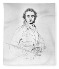 Nicolo Paganini (1782-1840) Fleece Blanket