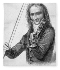 Nicolo Paganini Fleece Blanket