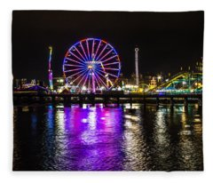 Night At The Carnival Fleece Blanket