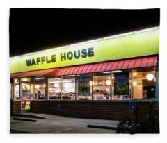 Night At Waffle House Fleece Blanket