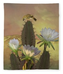 Night Blooming Cereus Fleece Blanket