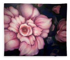 Night Blooms Fleece Blanket