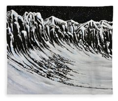 Night Cliffs Fleece Blanket