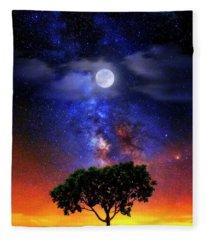 Night Colors Fleece Blanket