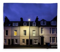 Night Darkens The Street Fleece Blanket