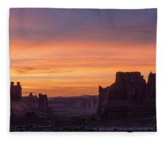 Night Falls Gently Fleece Blanket