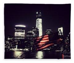 Night Flag Fleece Blanket