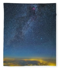 Night Flight Fleece Blanket