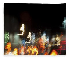 Night Forest - Light Spirits Limited Edition 1 Of 1 Fleece Blanket