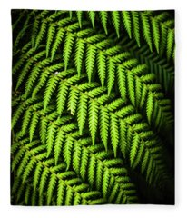 Night Forest Frond Fleece Blanket