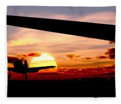 Night Hawks Fleece Blanket