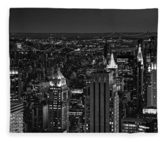 Night In Manhattan Fleece Blanket