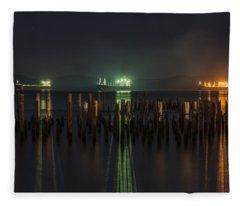 Night Lights Fleece Blanket