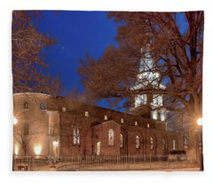 Night Lights St Anne's In The Circle Fleece Blanket