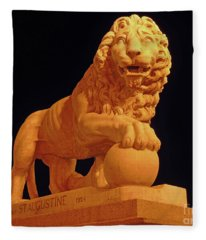 Night Of The Lion Fleece Blanket