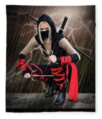 Night Of The Ninja Fleece Blanket