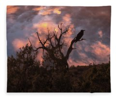 Night Of The Raven Fleece Blanket