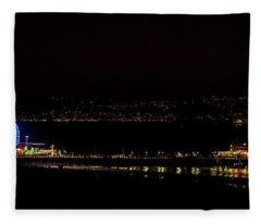 Santa Monica Pier Light Show - Series 3 Fleece Blanket