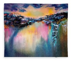 Night Reflections Fleece Blanket