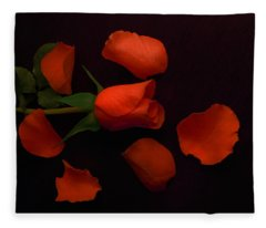 Night Rose 2 Fleece Blanket