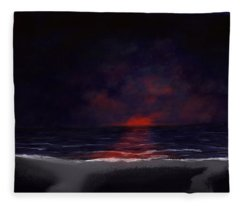 Night Sea Fleece Blanket