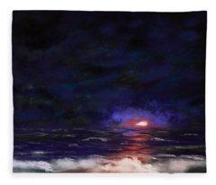 Night Shoreline Fleece Blanket