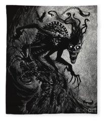 Night Terror Fleece Blanket
