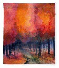 Night Time Among The Maples Fleece Blanket