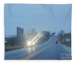 Nightime Travel Fleece Blanket