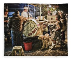 Nightlife In Guatemala Fleece Blanket
