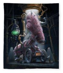 Nightmare Victorian Flesh Creature Horror Fleece Blanket