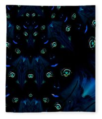 Night's Faces With Wolves Fleece Blanket